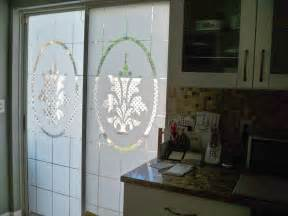 Window Film For Patio Doors by Etched Glass Film Decorates Sliding Glass Doors For 14