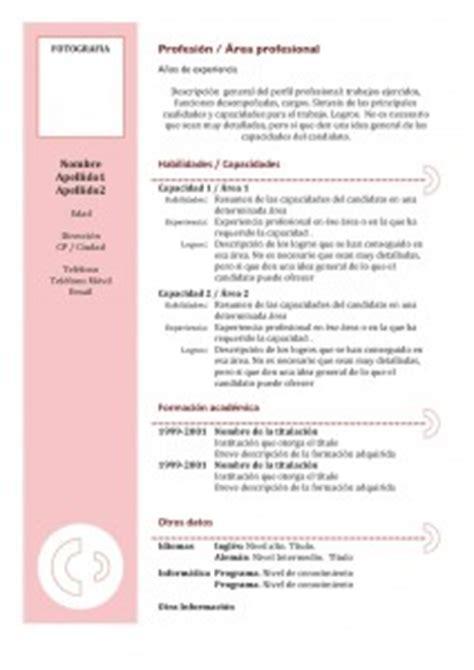Plantilla De Un Curriculum Funcional Cv Funcional Modelos Y Plantillas Modelo Curriculum