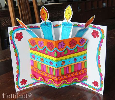 birthday cake pop up card free template 44 best birthday images on card crafts gift