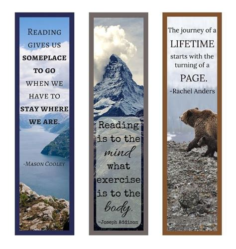 printable bookmarks with quotes from books book quotes printable bookmark set allfreepapercrafts com