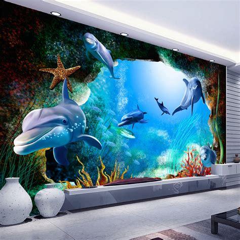 custom  photo wallpaper scenery  walls ocean seabed