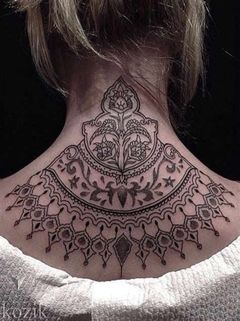 tattoo mandala nacken 15 pretty neck tattoos for women pretty designs
