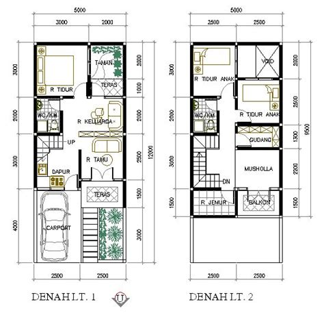 Ac Rumah denah rumah minimalis type 36 2 lantai projects to try