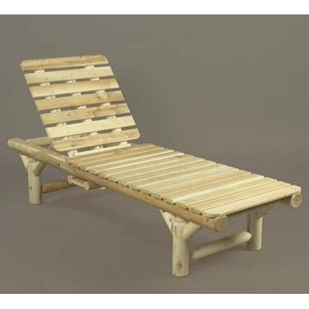 wooden chaise lounge chairs 74 quot cedar log style outdoor wooden chaise lounge