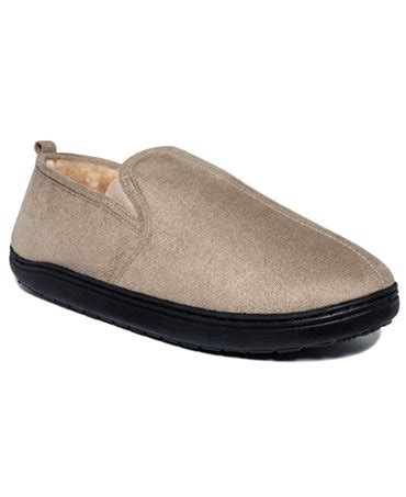 club room slippers club room s slippers paul suede slip on loafers