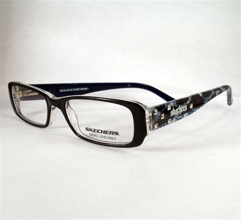skechers 2012 black eyeglass eyewear frames glasses