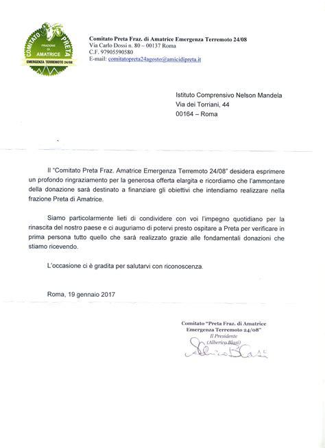 esempi di lettere di ringraziamento istituto comprensivo nelson mandela gi 224 via dei torriani
