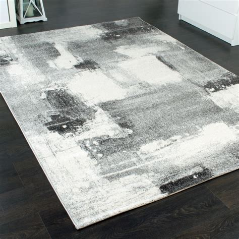 teppich grau beige designer carpet modern home rug checkered squares in grey