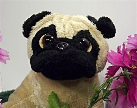 realistic stuffed pug ganz webkinz realistic plush pug lifelike stuffed animal puppy nwt l3b25