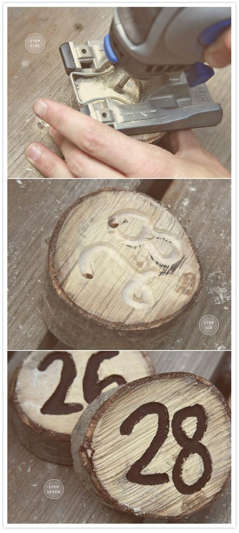 Diy Table Numbers by Diy Wooden Table Numbers Diy Projects 100 Layer Cake