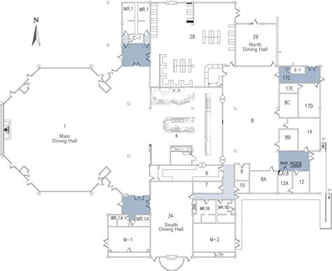 floor plan of cafeteria 301 moved permanently