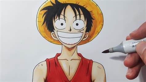 Monkey D Luffy Pencil Anime how to draw luffy step by step tutorial
