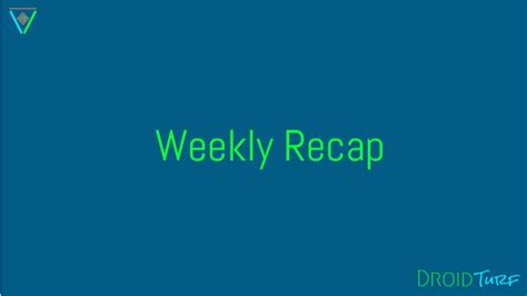 weekly recap weekly recap here are all the major headlines from the