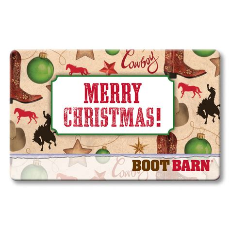 Boot Barn E Gift Card - boot barn 174 merry christmas wrapping paper gift card boot barn