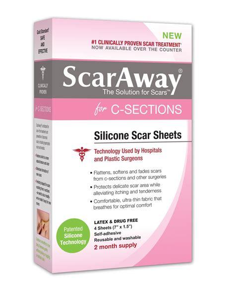 scaraway c section scaraway c section scar treatment strips 7 quot x 1 5 quot 4 ct