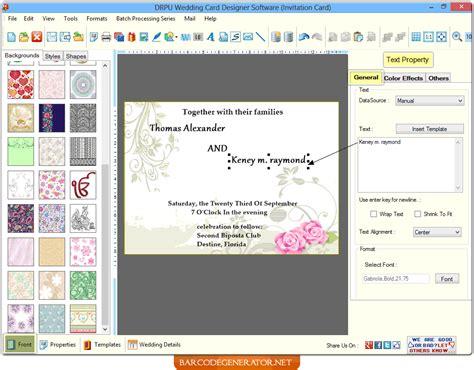 Wedding Card Generator screenshots of wedding card generator software helps to