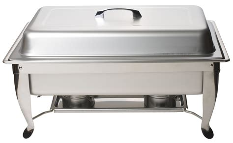 Cool Flatware stainless steel full size chafing dish with folding stand