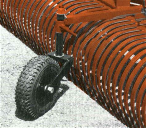Landscape Rake With Wheels Model 0241 Caster Wheel Set For York Rw Landscape Rake