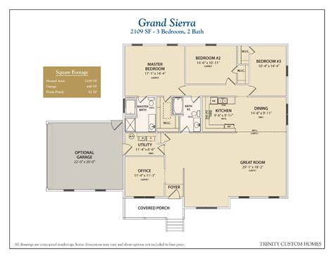 One Bedroom Floor Plans With Garage Floor Plans Trinity Custom Homes Georgia
