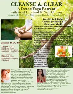 Weekend Detox Retreat by Napa Ca Local Events On Flyers Napa Valley