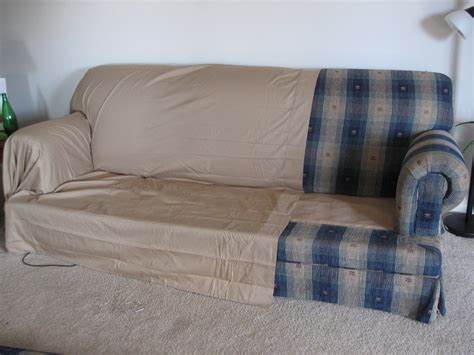 cover sofa with sheet making couch covers from two queen bed sheets and
