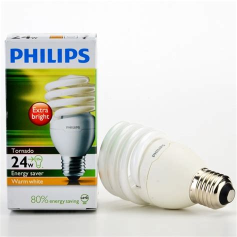 Lu Philips Warm White philips tornado energy saver bulb warm white 24w