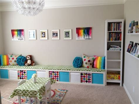 playroom ideas ikea ikea expedit playroom storage bench kids pinterest