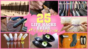 25 life hacks every girl should know youtube