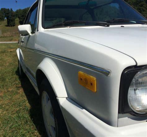 1988 volkswagen cabriolet triple white manual transmission for sale in staunton virginia