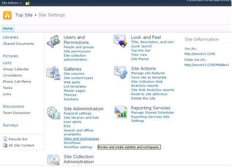 sharepoint site templates 2010 sharepoint 2010 site templates exles