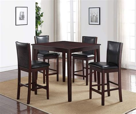 big lots dining room i found a espresso 5 piece pub set at big lots for less
