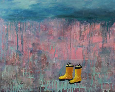 Posters For Home Decor rainy day galoshes painting by guenevere schwien