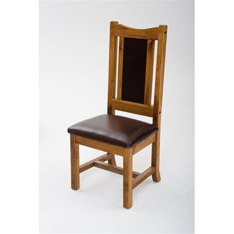 Dining Room Chairs With Leather Seats Mustang Side Chair With Leather Seat Green Gables
