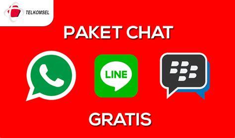 kode paket kuota gratis cara daftar paket chat whatsapp bbm dan line gratis