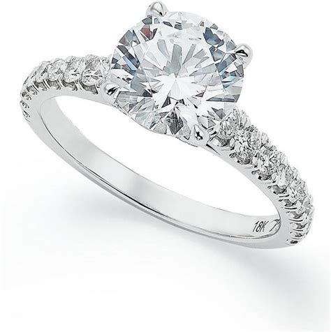 x3 certified pave solitaire engagement ring in 18k