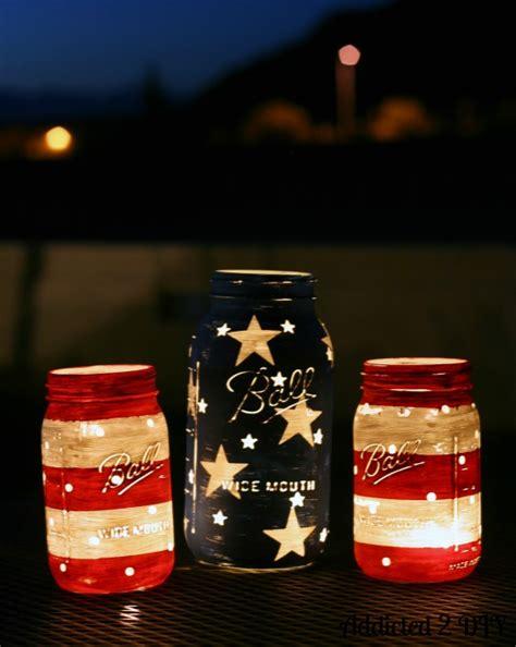 Solar Light Chandelier Patriotic Mason Jar Lanterns Addicted 2 Diy