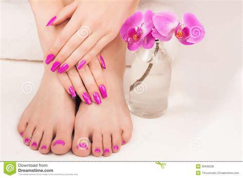 Manicure And Pedicure beautiful manicure and pedicure stock photo image 39436238