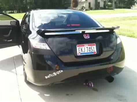 murdered honda civic si youtube