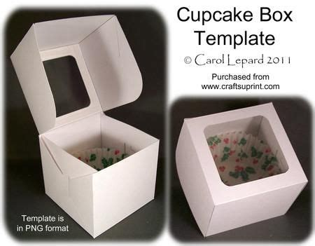 free templates for cupcake boxes cupcake box template on craftsuprint designed by carol