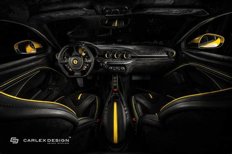 ferrari yellow interior carlex design gives yellow ferrari f12 a new interior