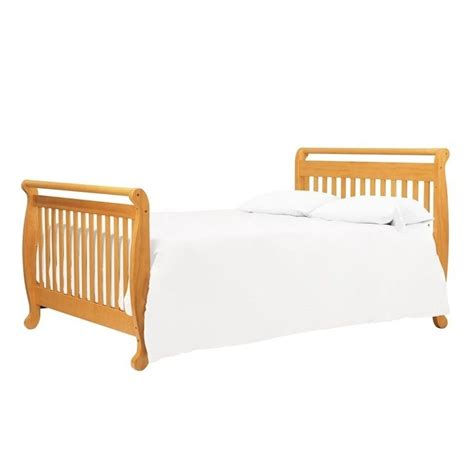 Bed Rails For Convertible Cribs Davinci Emily 4 In 1 Convertible Crib With Bed Rails In Honey Oak M4791o M4799o Pkg