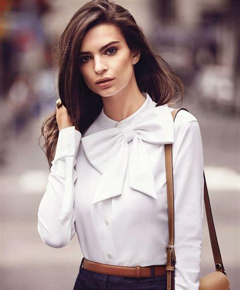 Style Kates Blouse by Emily Ratajkowski S Bazaar Us Magazine September