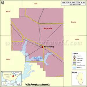 moultrie county map illinois