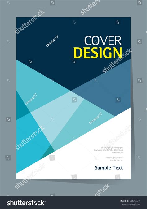 simple book cover template book cover design vector template a4 stock vector