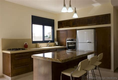 Dark Wood Kitchen Island by Pictures Of Kitchens Modern Dark Wood Kitchens