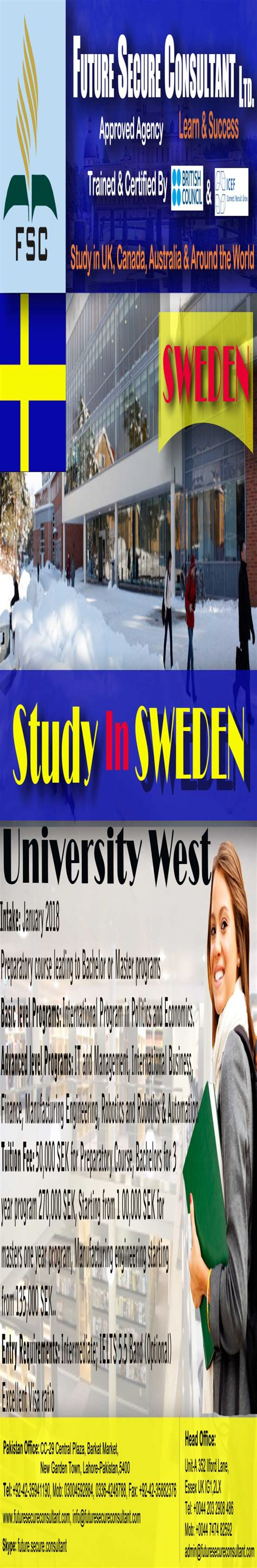 Mba In Sweden Without Ielts by Study In Sweden Without Ielts