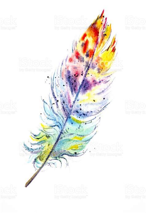 rainbow feather stock vector art 183578808 istock