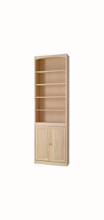 36 Quot Wide Archbold Arched Pine Bookcase With Doors Pine Bookcase With Doors