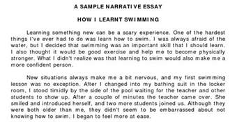 Story Writing Essay by Narrative Essay Exles Academic Step By Step Guide