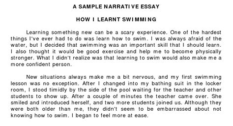 Essay Exles Narrative by Narrative Essay Exles Academic Step By Step Guide